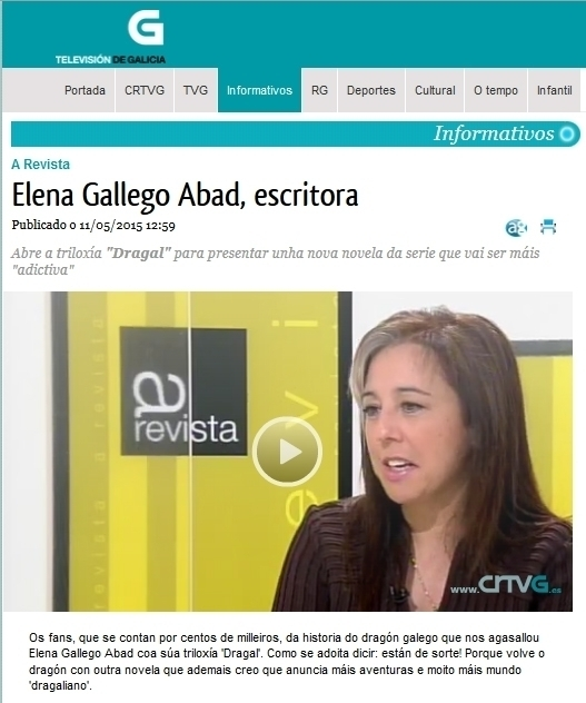 Dragal IV en el programa A Revista TVG - Dragal, el último dragón
